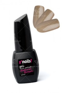 X'nails lakier hybrydowy Natural Brown 15ml.