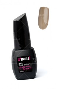 X'nails lakier hybrydowy Natural Brown 7ml.