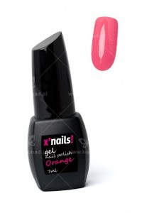 X'nails lakier hybrydowy Orange 7ml.