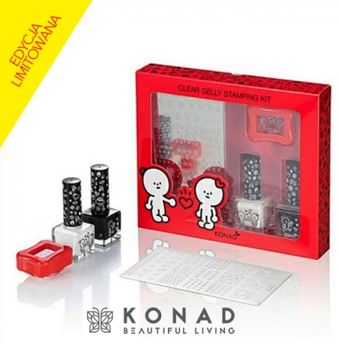 Clear Stamping Set HAPPY Konad